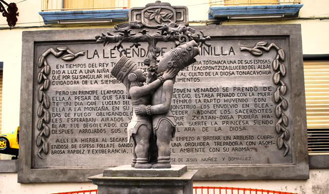バニラ伝説の碑(メキシコ・ベラクルス州)